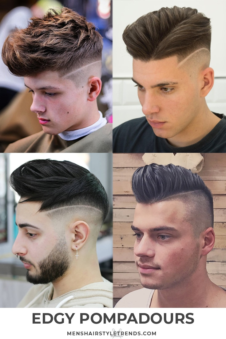 Edgy pompadour haircuts and hairstyles