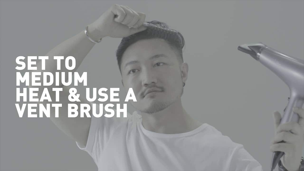 how to blow dry hair men