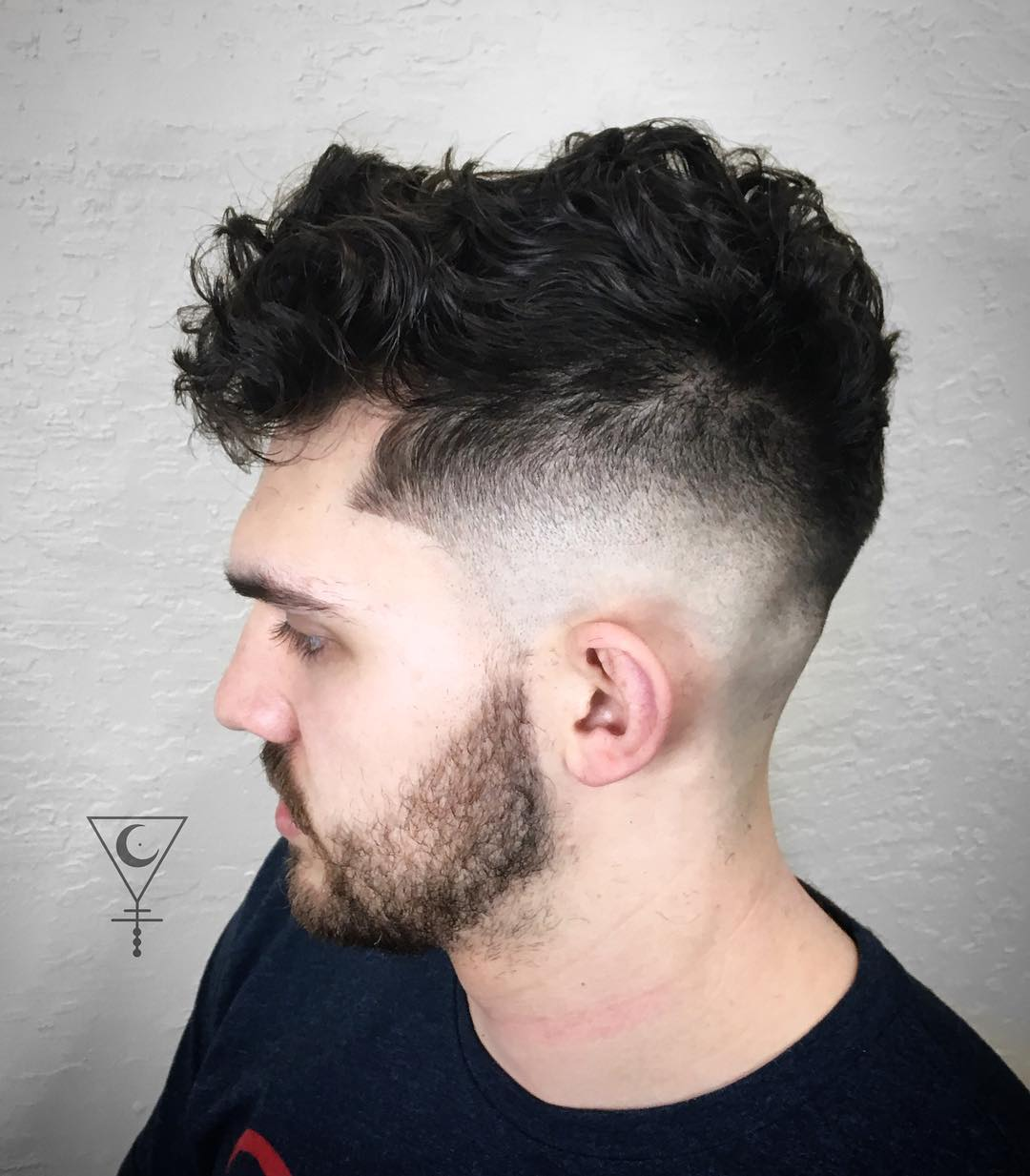 Curly Comb Over Haircut