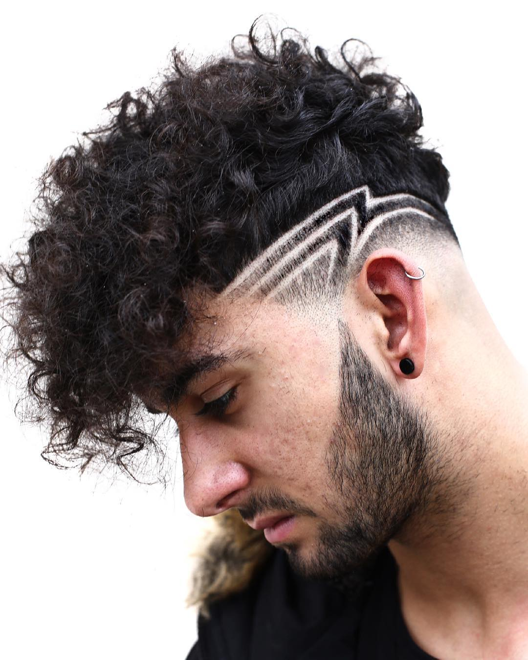 fade haircut for curly hair