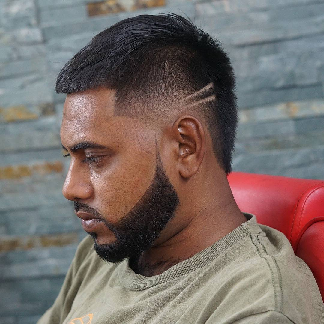 Burst fade haircut for men