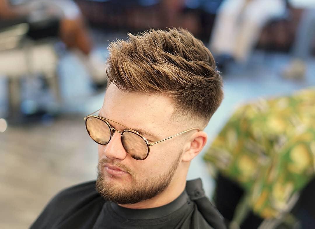 Big textured spikes haircut