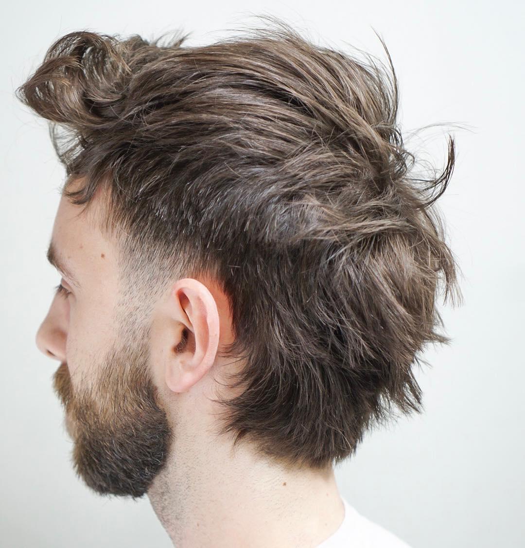 Messy mullet haircut