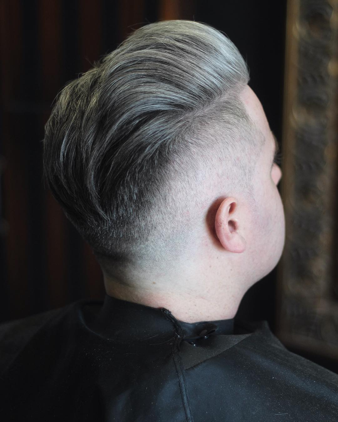 Undercut hairstyle for older men