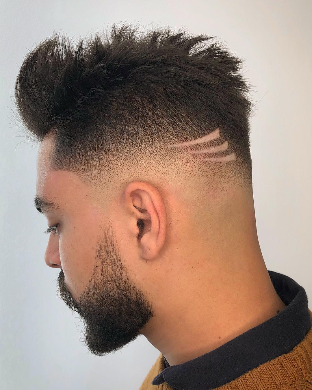 Razor fade haircut for guys