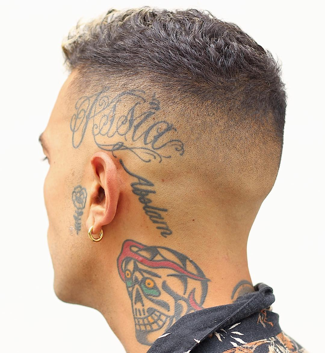 Very short hair fade haircut
