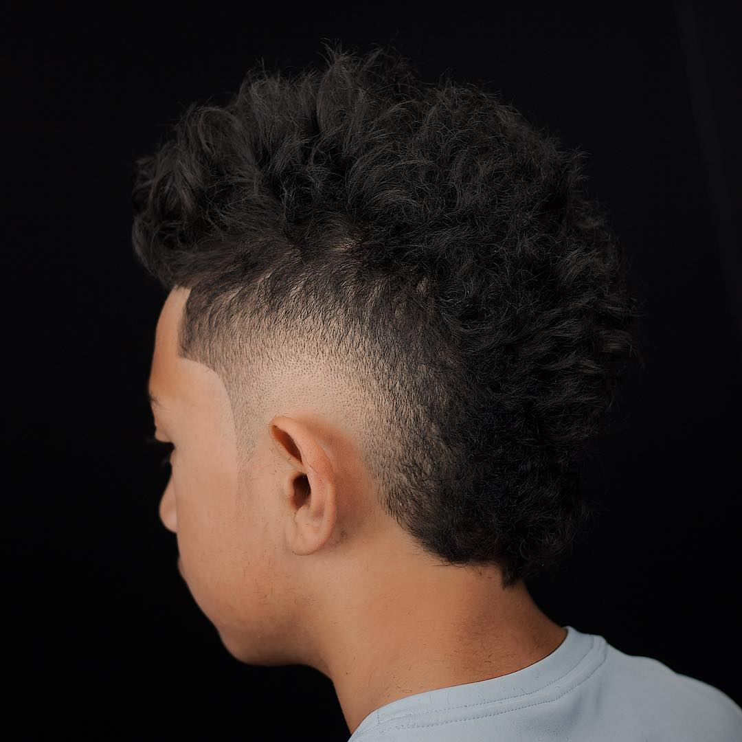 Burst fade mohawk haircut for men