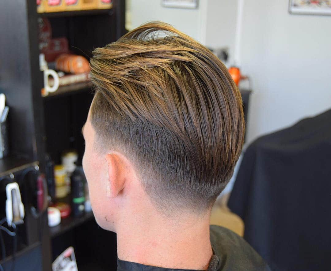 Tapered haircut for men