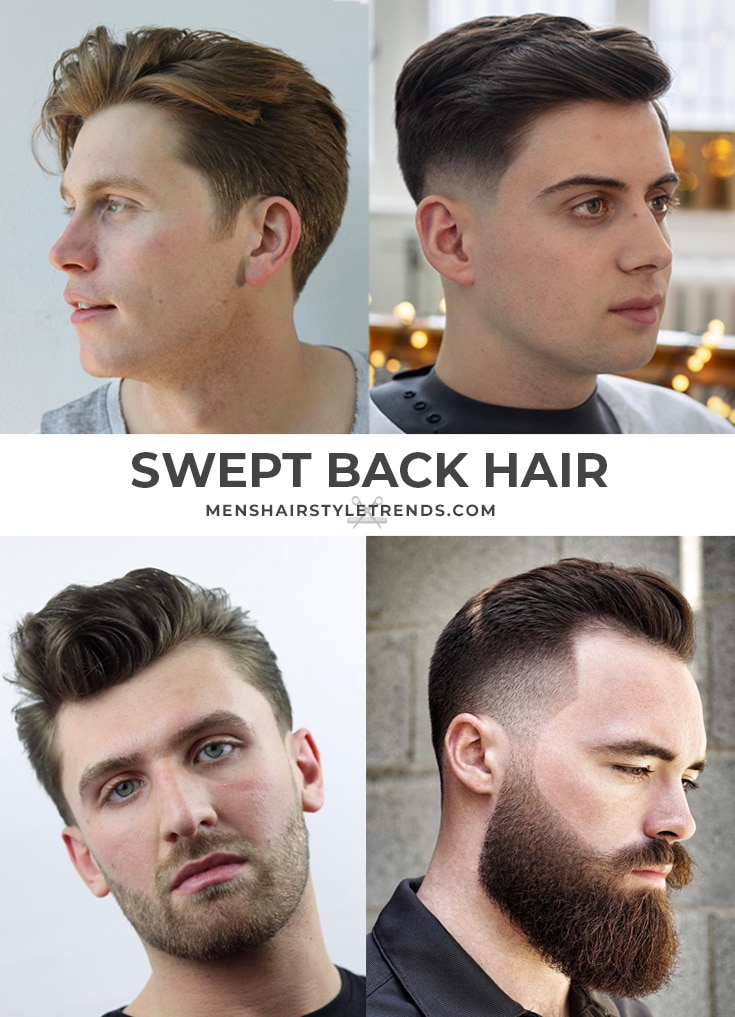 Swept back hairstyles for men