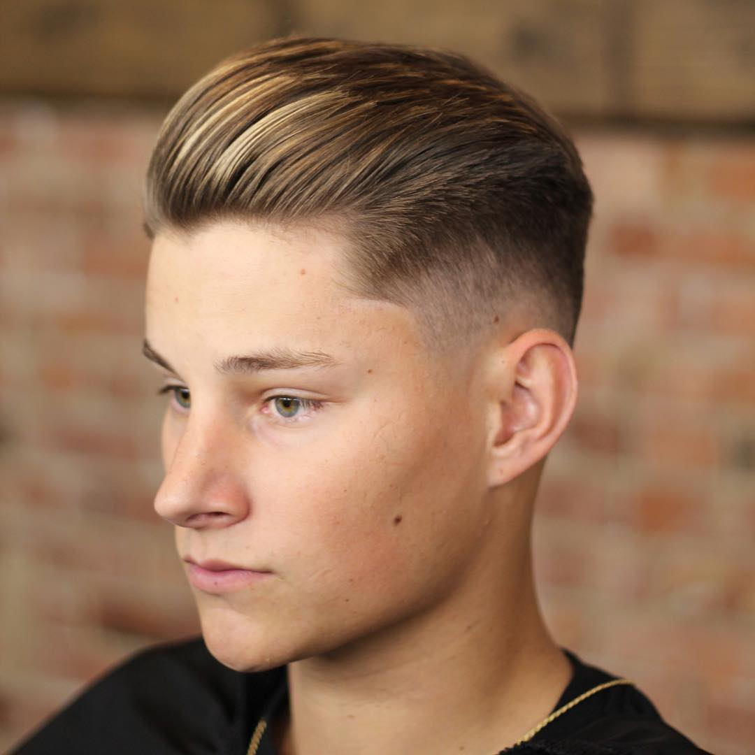 Teen men haircut
