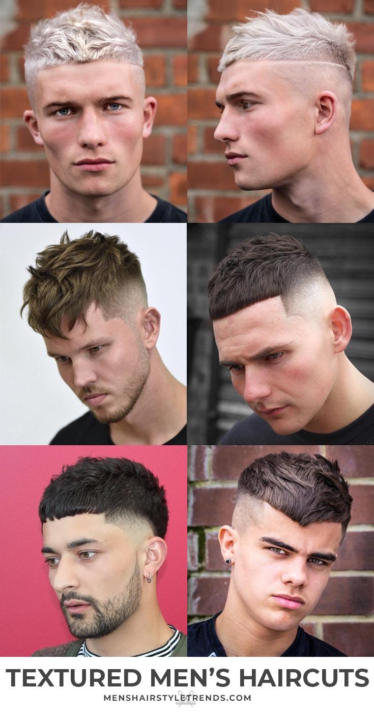 Textured mens haircuts short hair