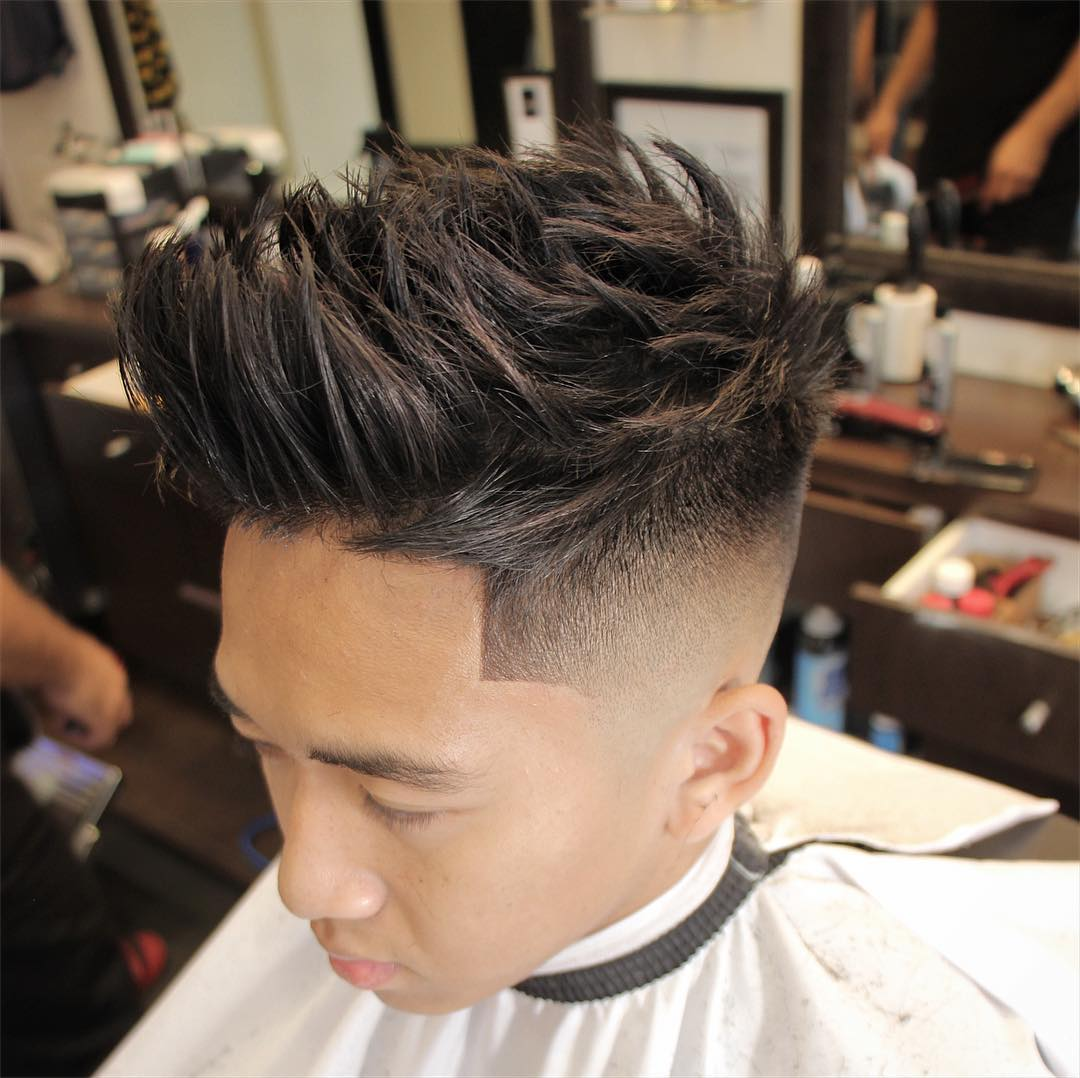 Textured hairstyles for Asian men