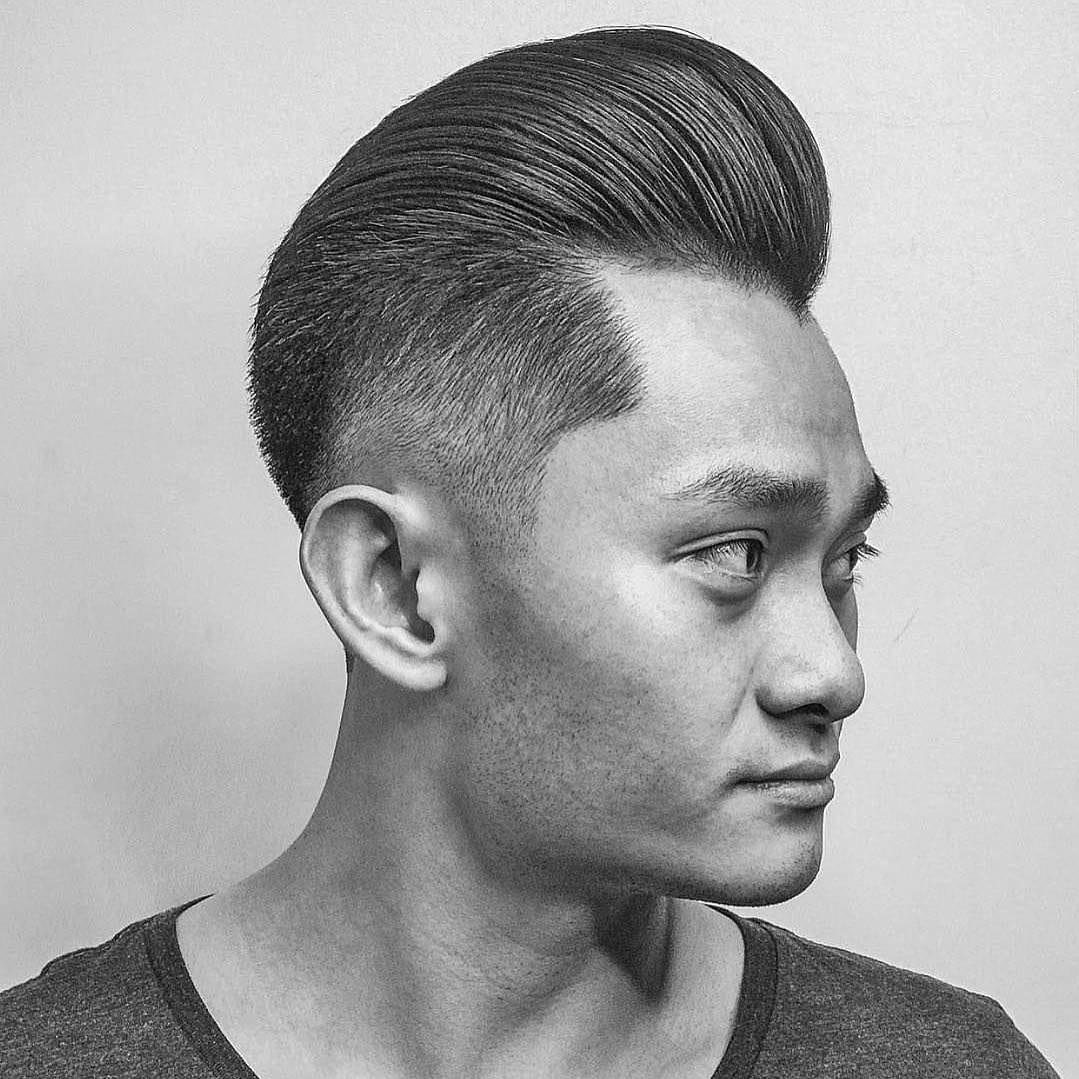 Classic pompadour and high fade