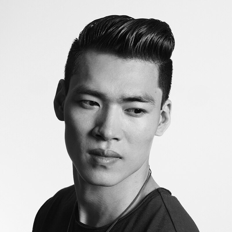 Classic men's hairstyle for Asian men