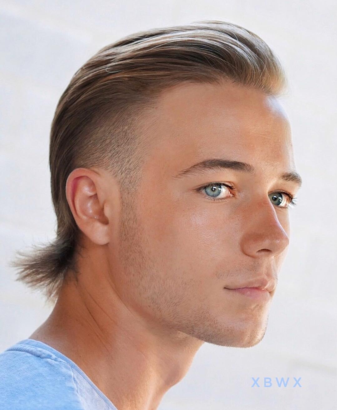 Hockey haircut mullet