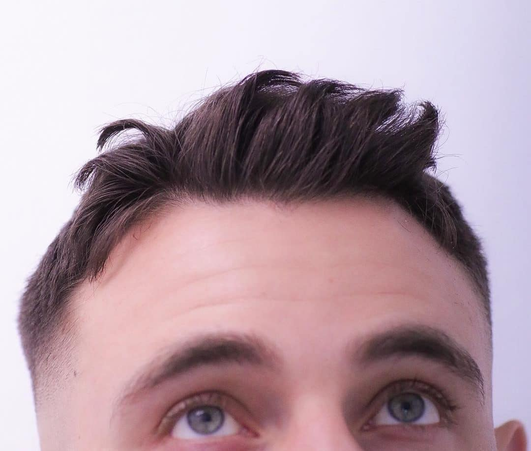 Short messy spiky hairstyle for men