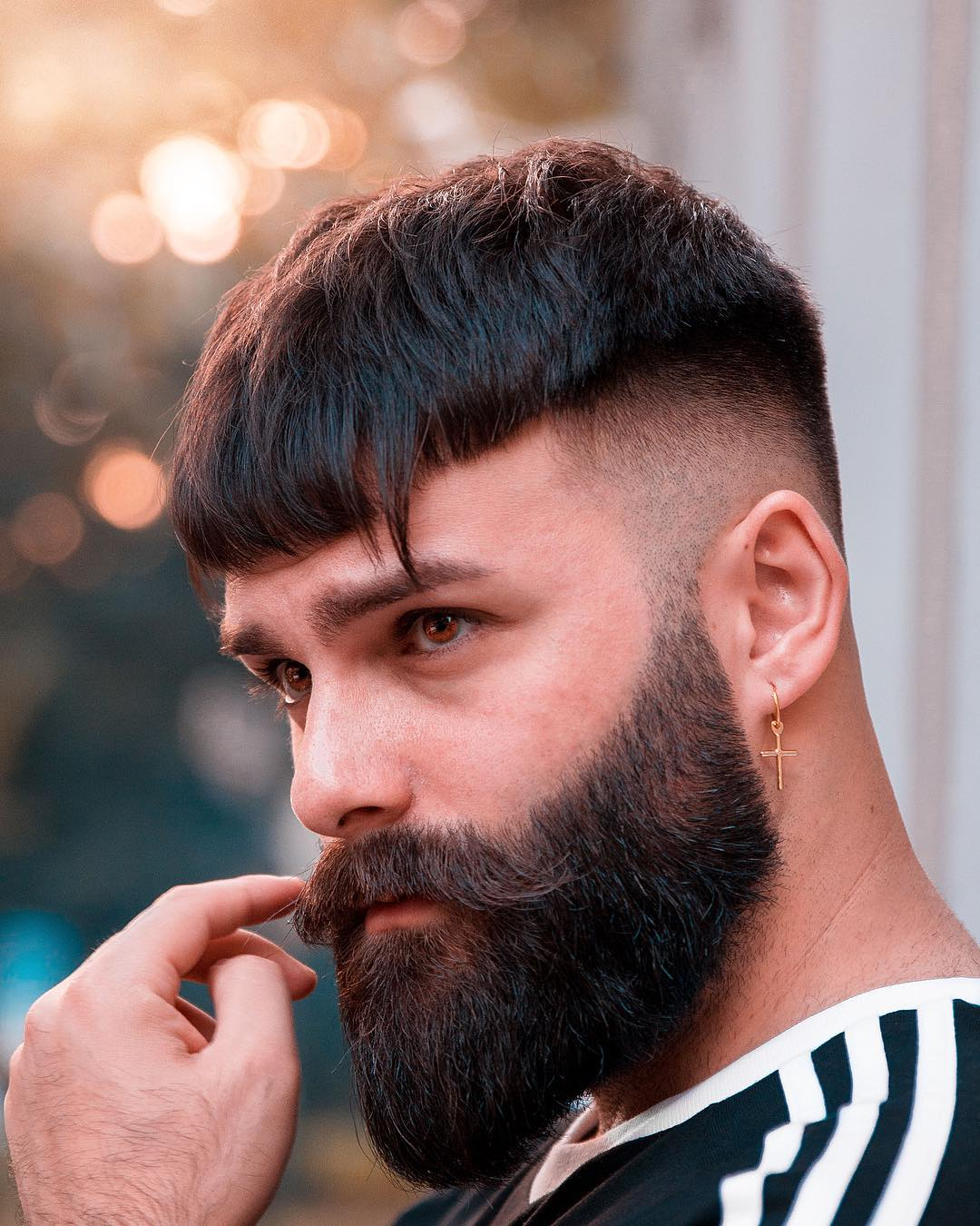 Crop Haircut And Full Beard