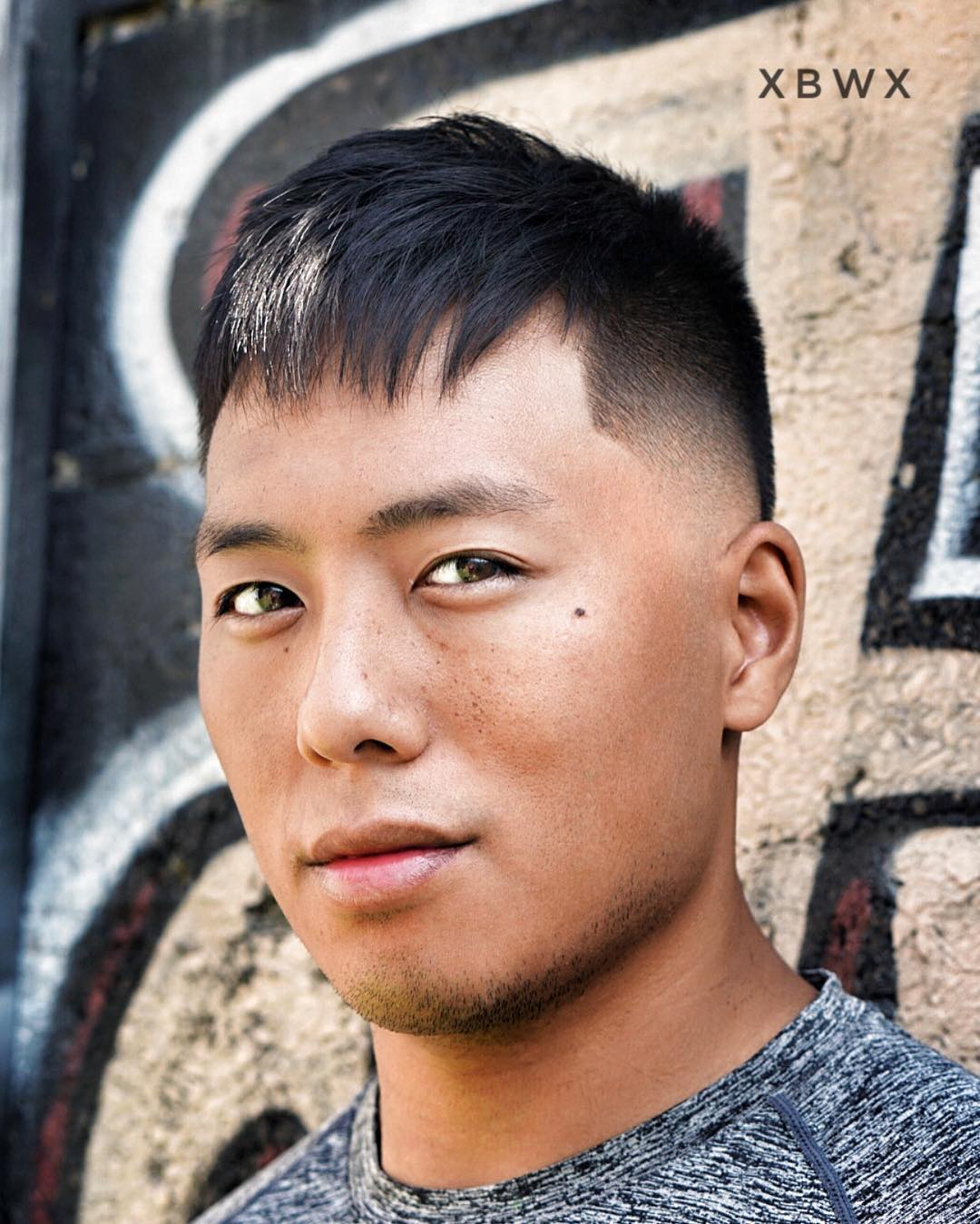 Layered Blunt Bangs Mens Hairstyle