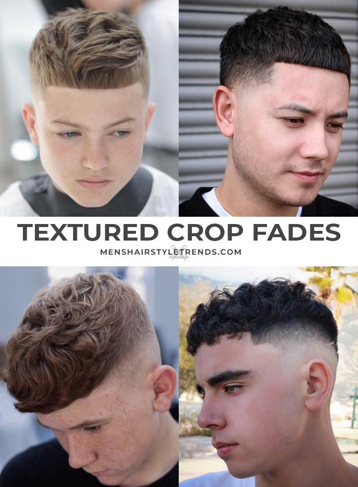 Textured crop fade haircuts