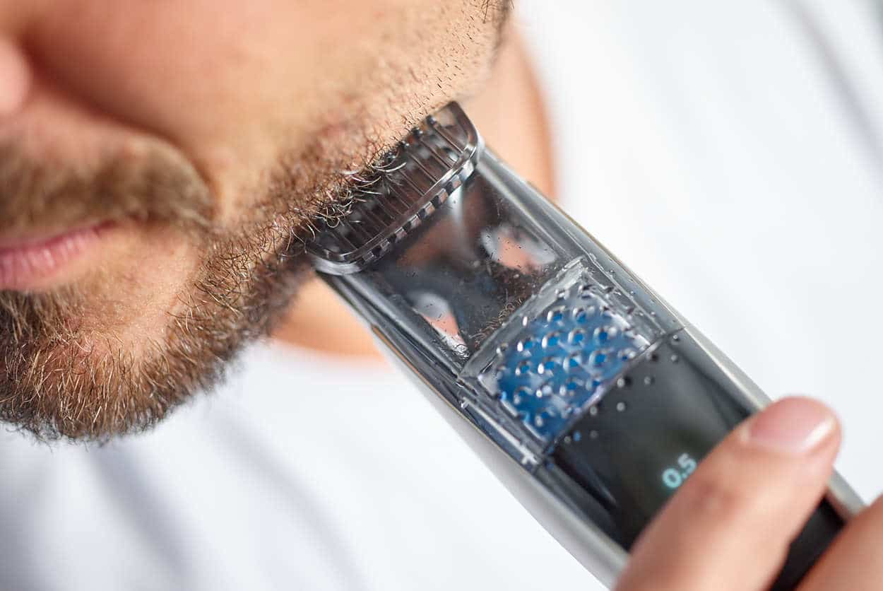vacuum beard trimmer philips norelco