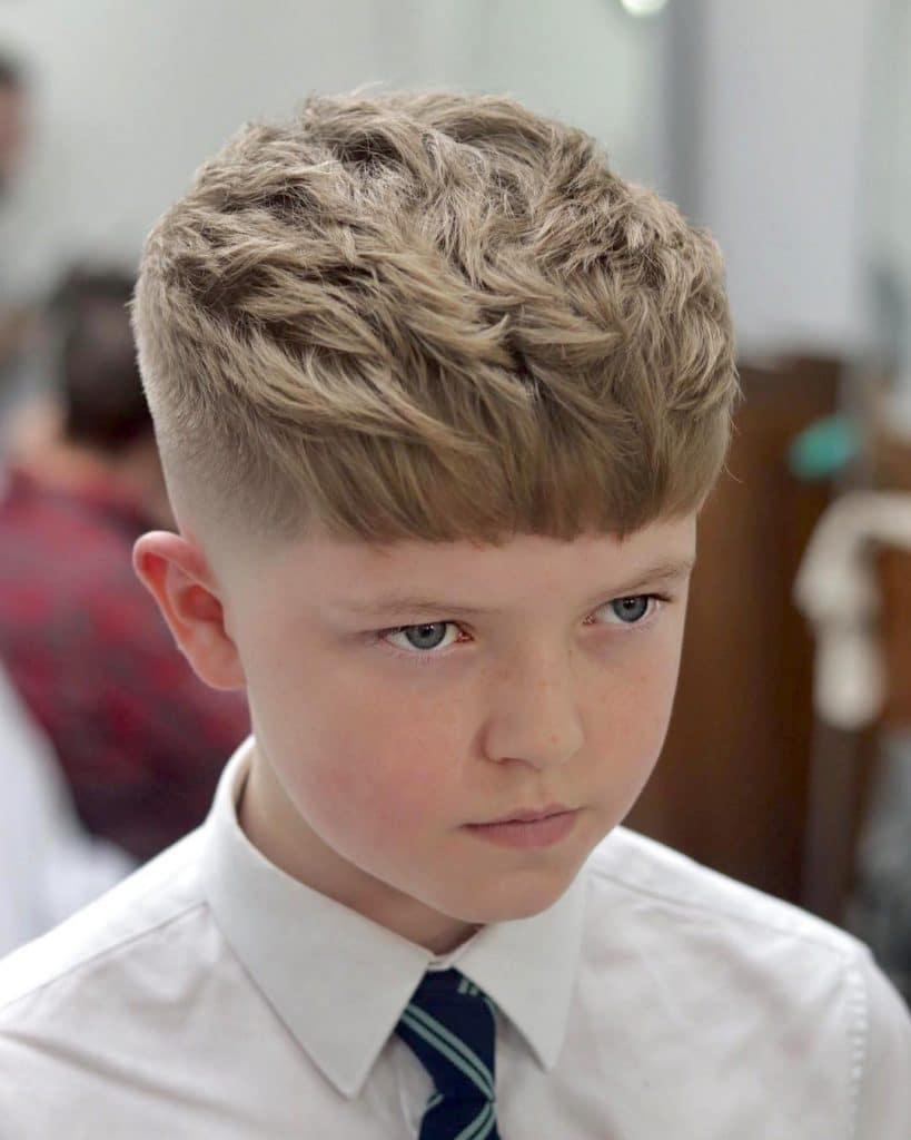 Textured Haircut For Boys