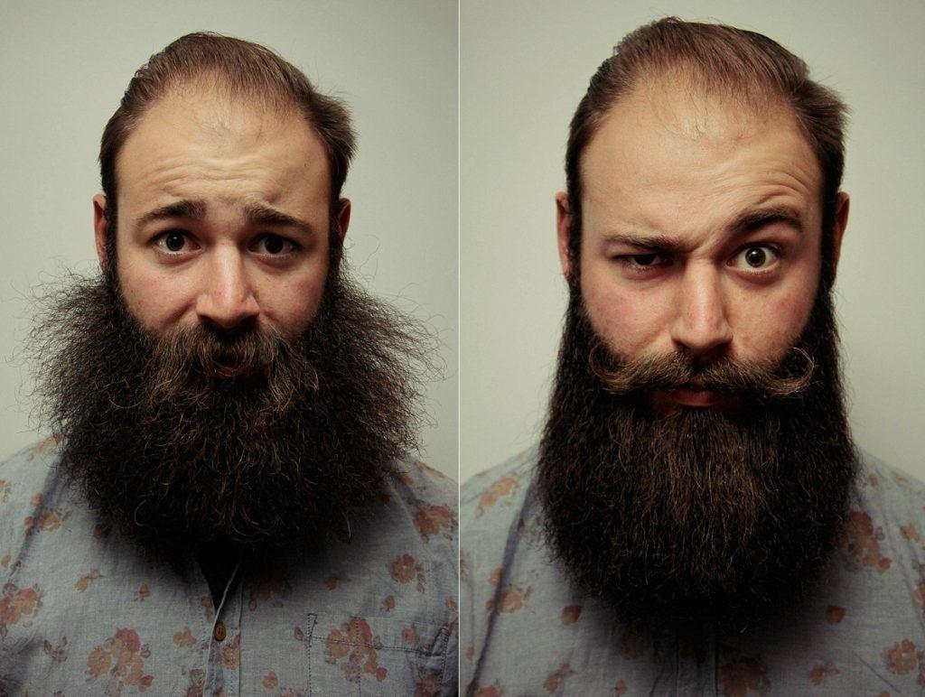 how to straighten a beard