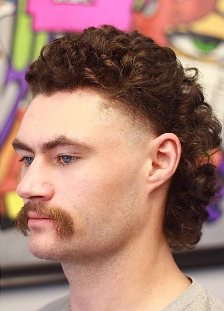 mullet haircut for curly hair