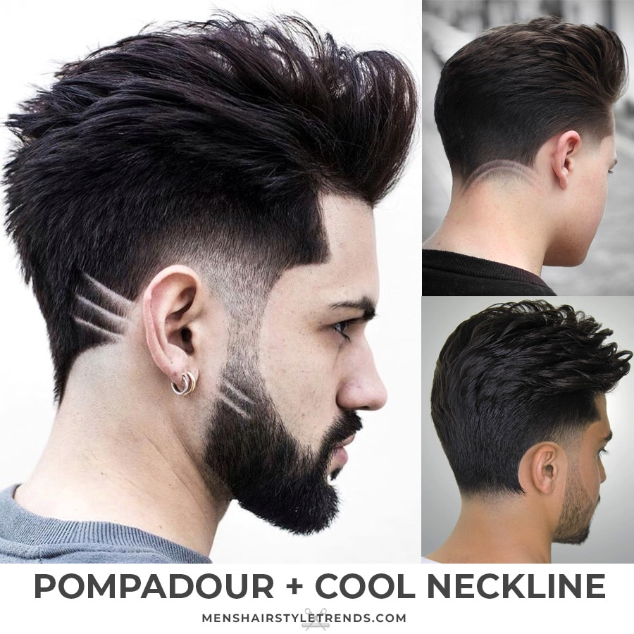 Pompadours with cool hair designs
