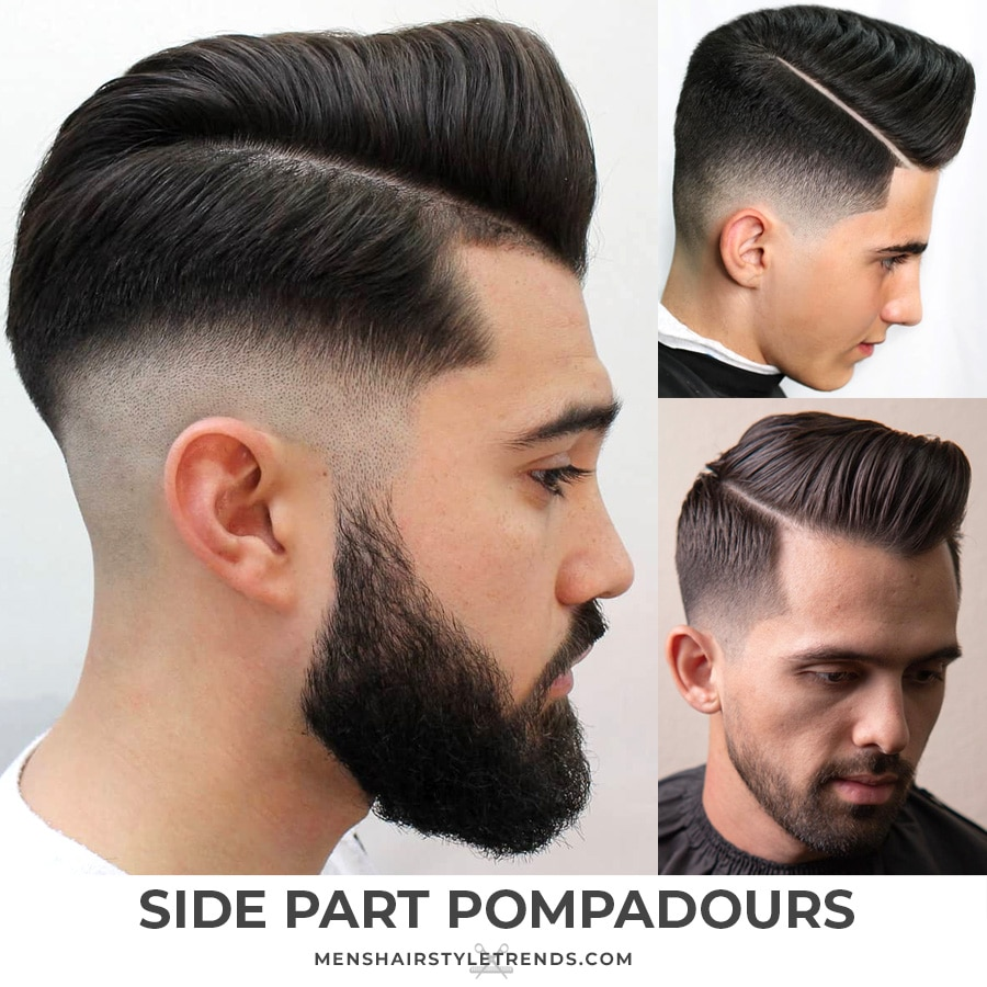 Side Part Pompadour Haircuts