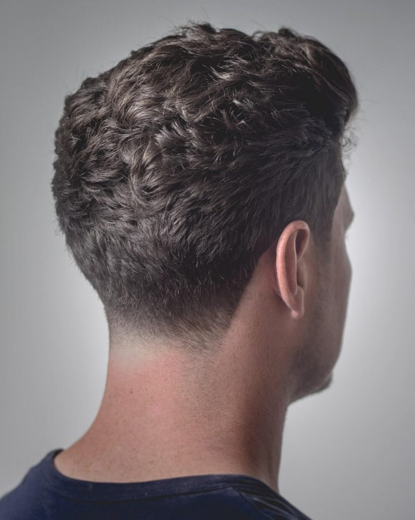 curly taper haircut for men