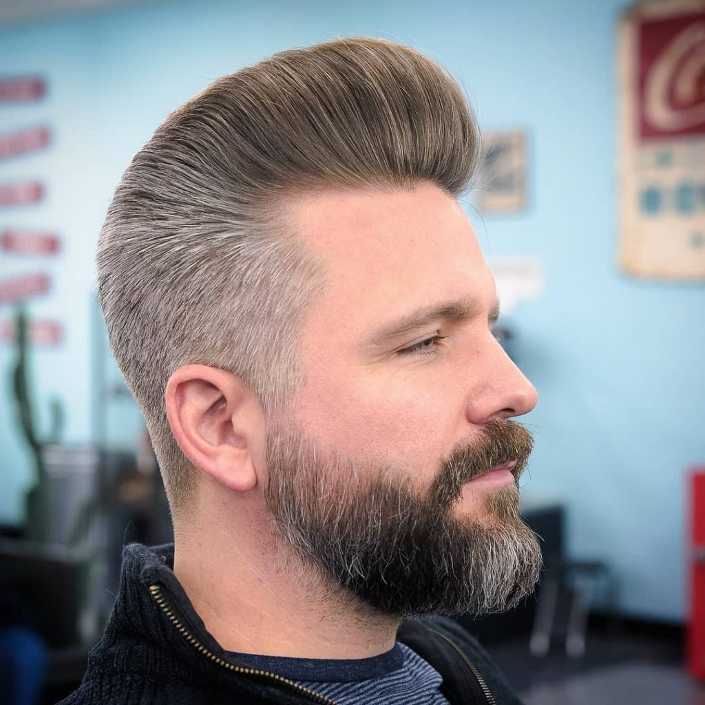 Classic Pompadour Hairstyle For Men