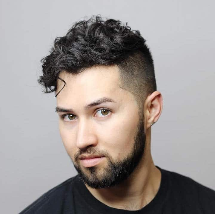 curly haircuts for men undercut