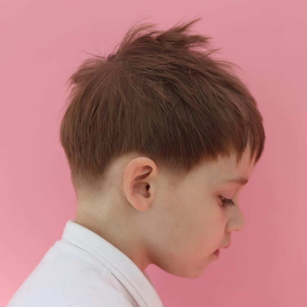 Trendy messy haircut for toddler boys