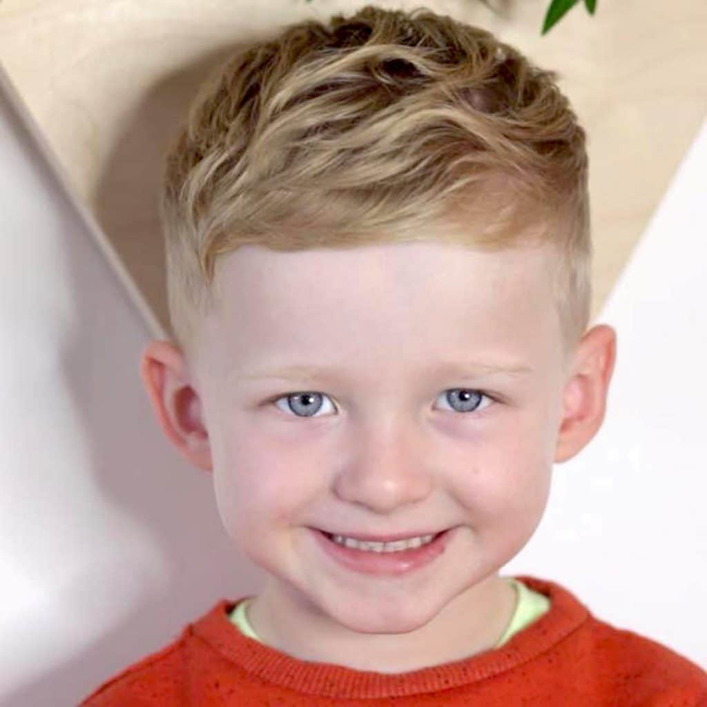 short haircut for toddler boys with wavy hair