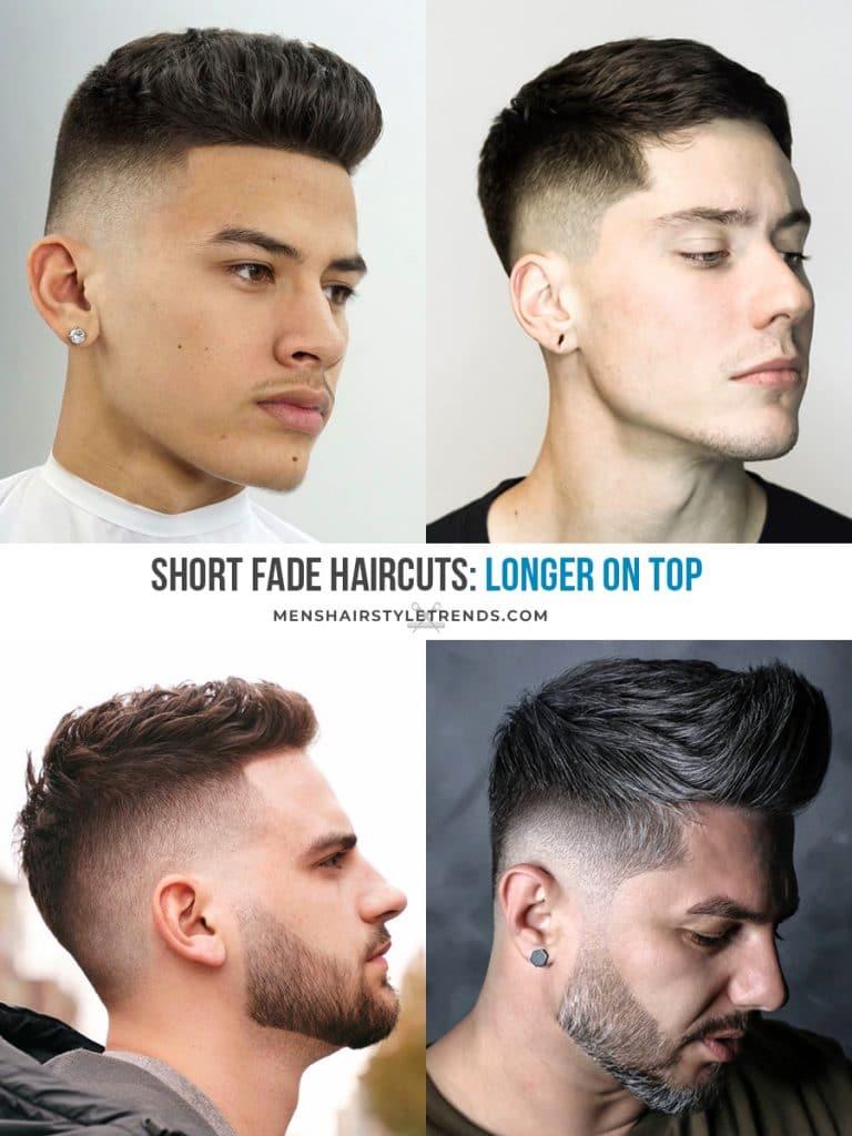Longer on top fade haircuts