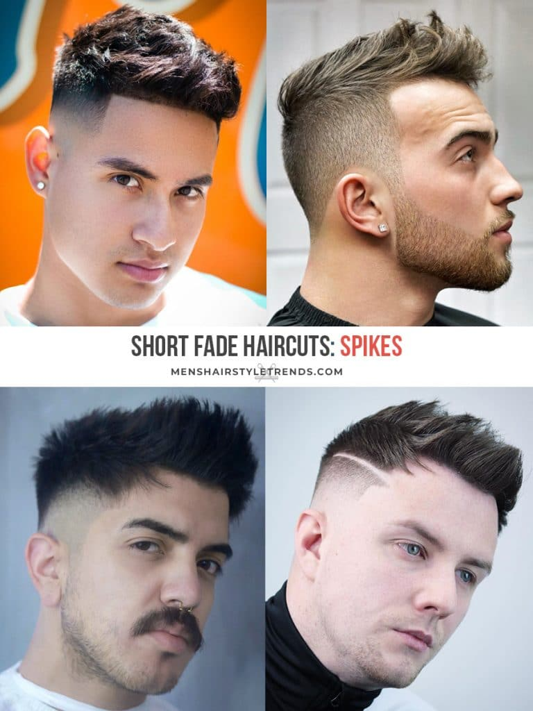 Short fade haircuts for men with spikes