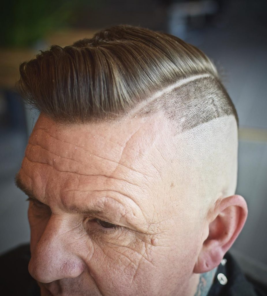 line haircuts for men