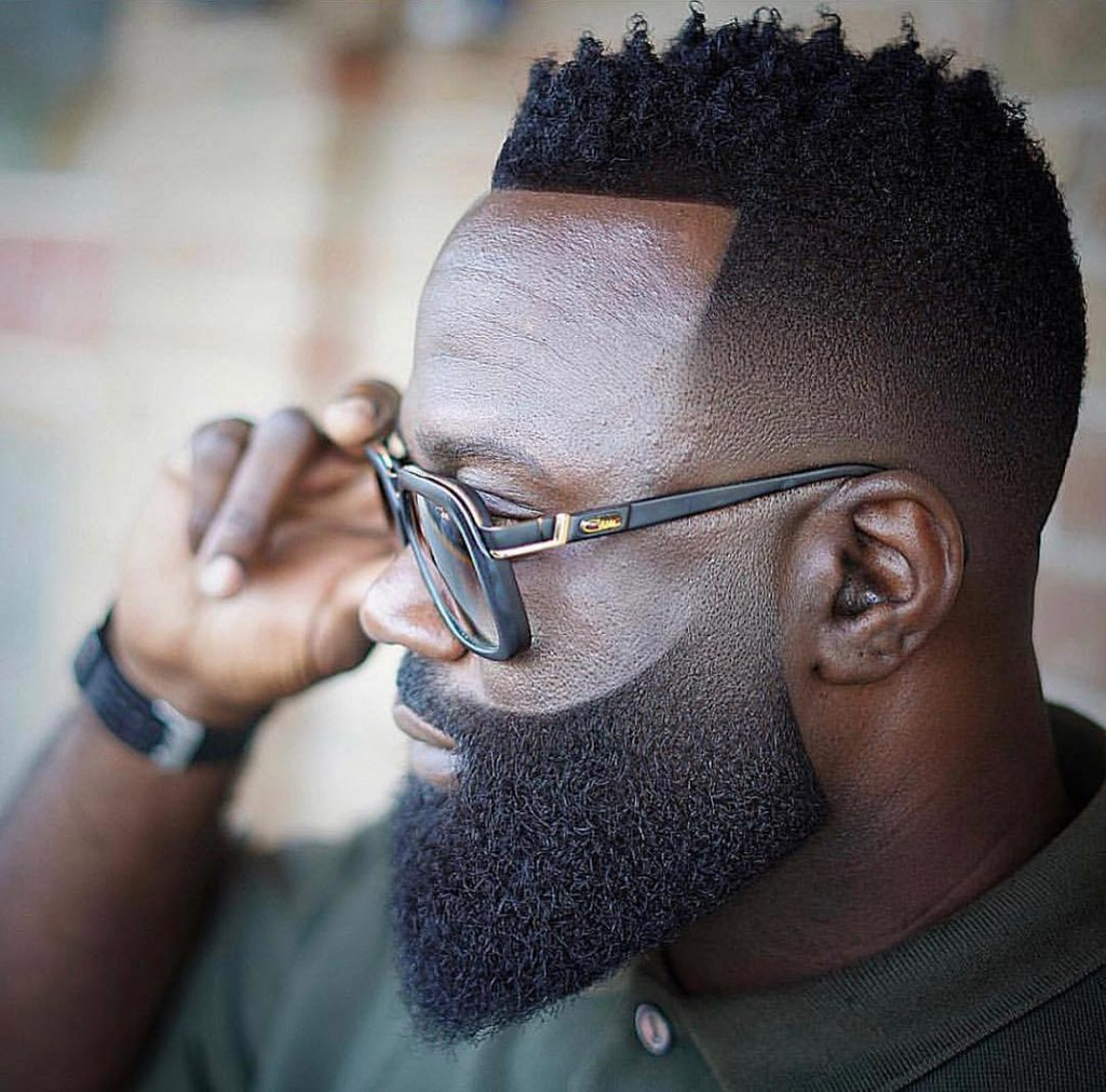 drop fade haircuts for black men with beards