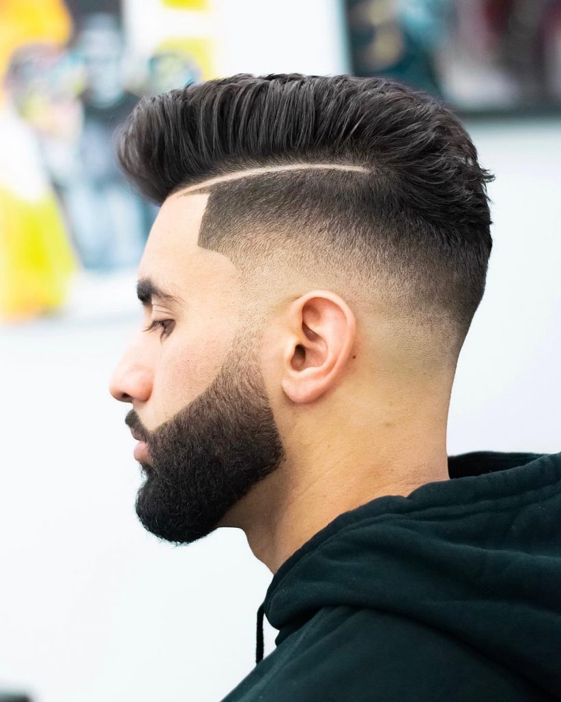 side part haircuts for men with beards