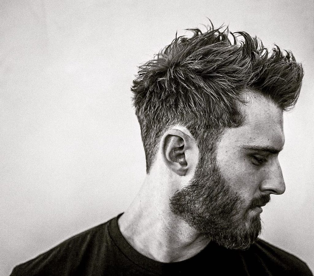 taper haircuts for men with beards