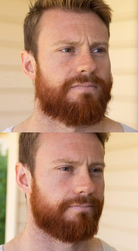 how to straighten a beard