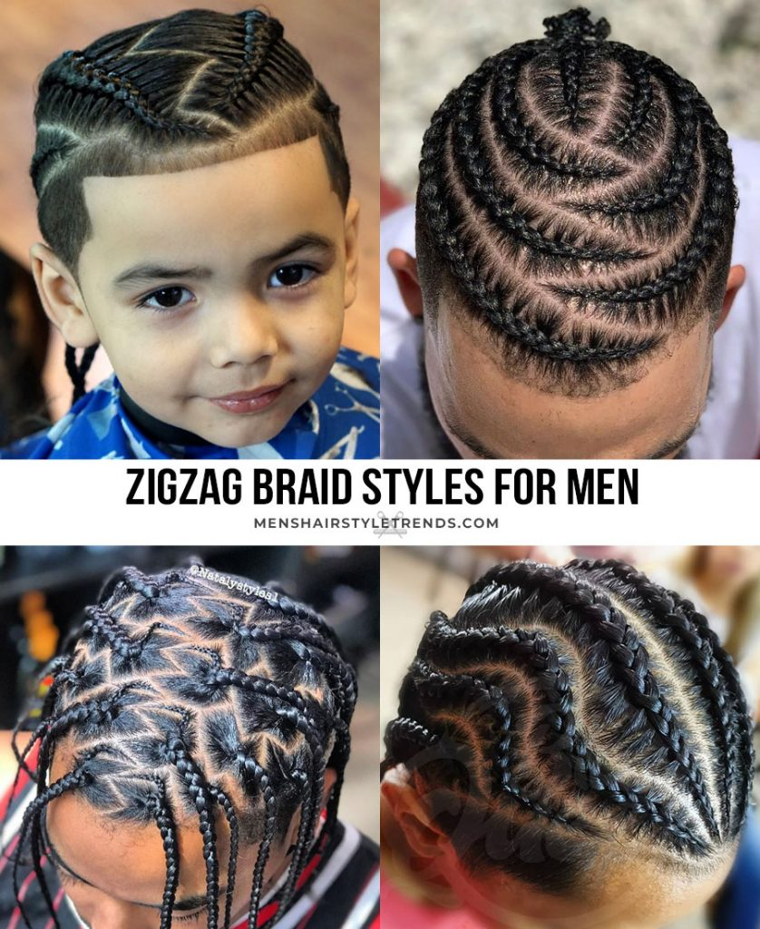 zig zag braid styles for men