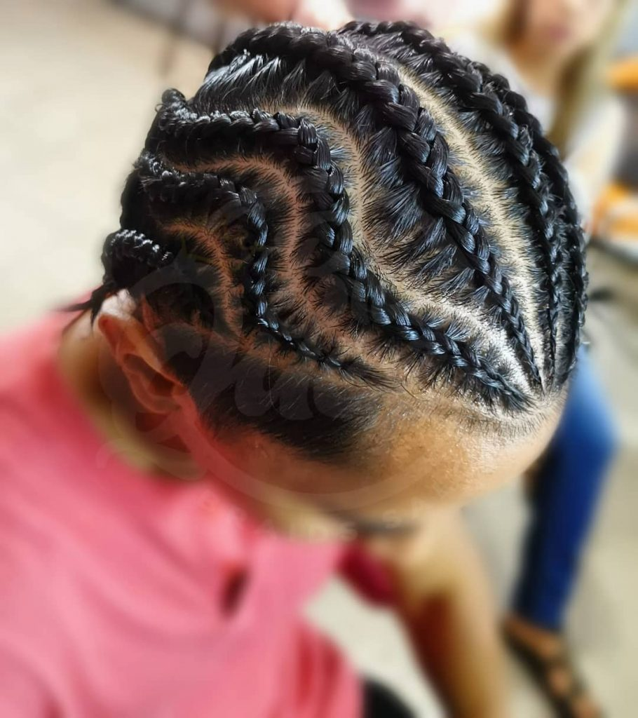 zig zag cornrow braids for men