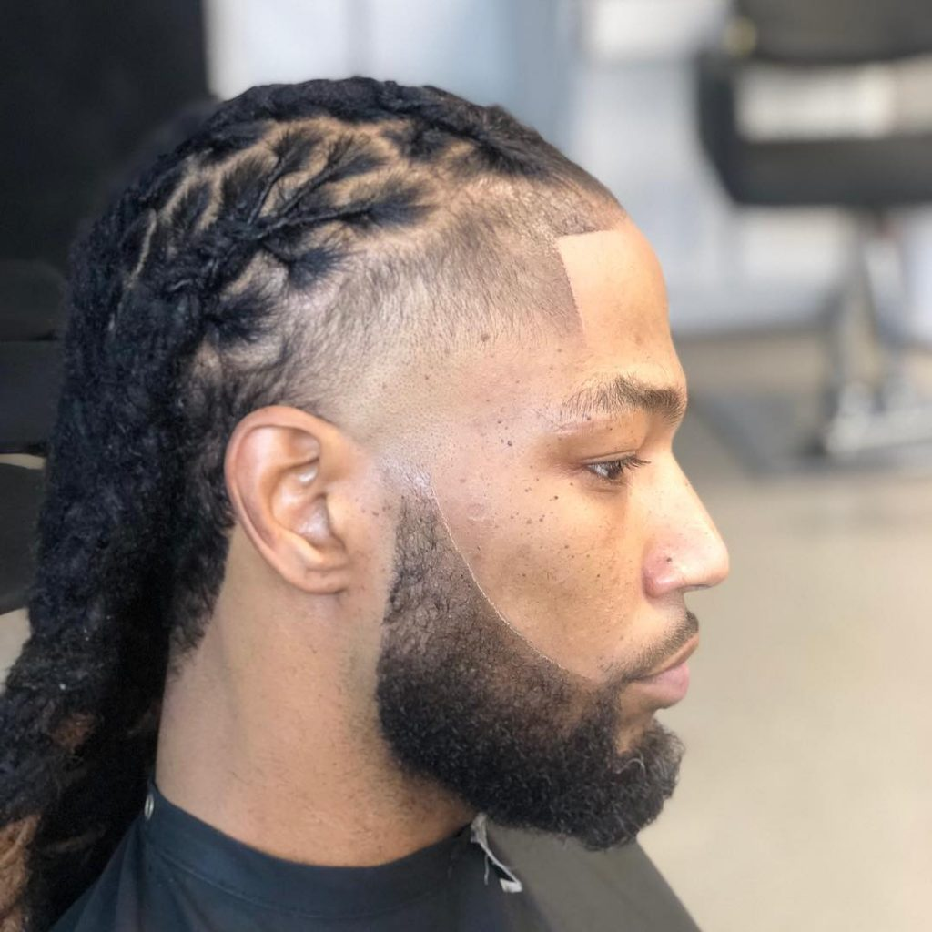 braided microdreads for men