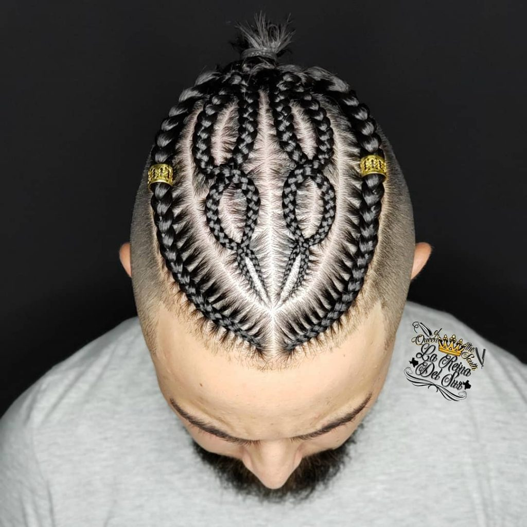 cornrow braid designs for men