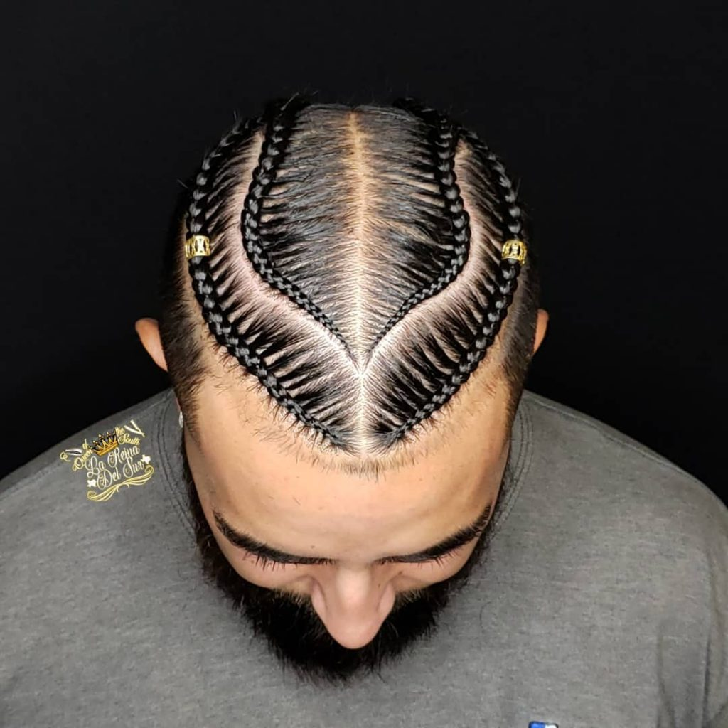 corn row braids for long hair men