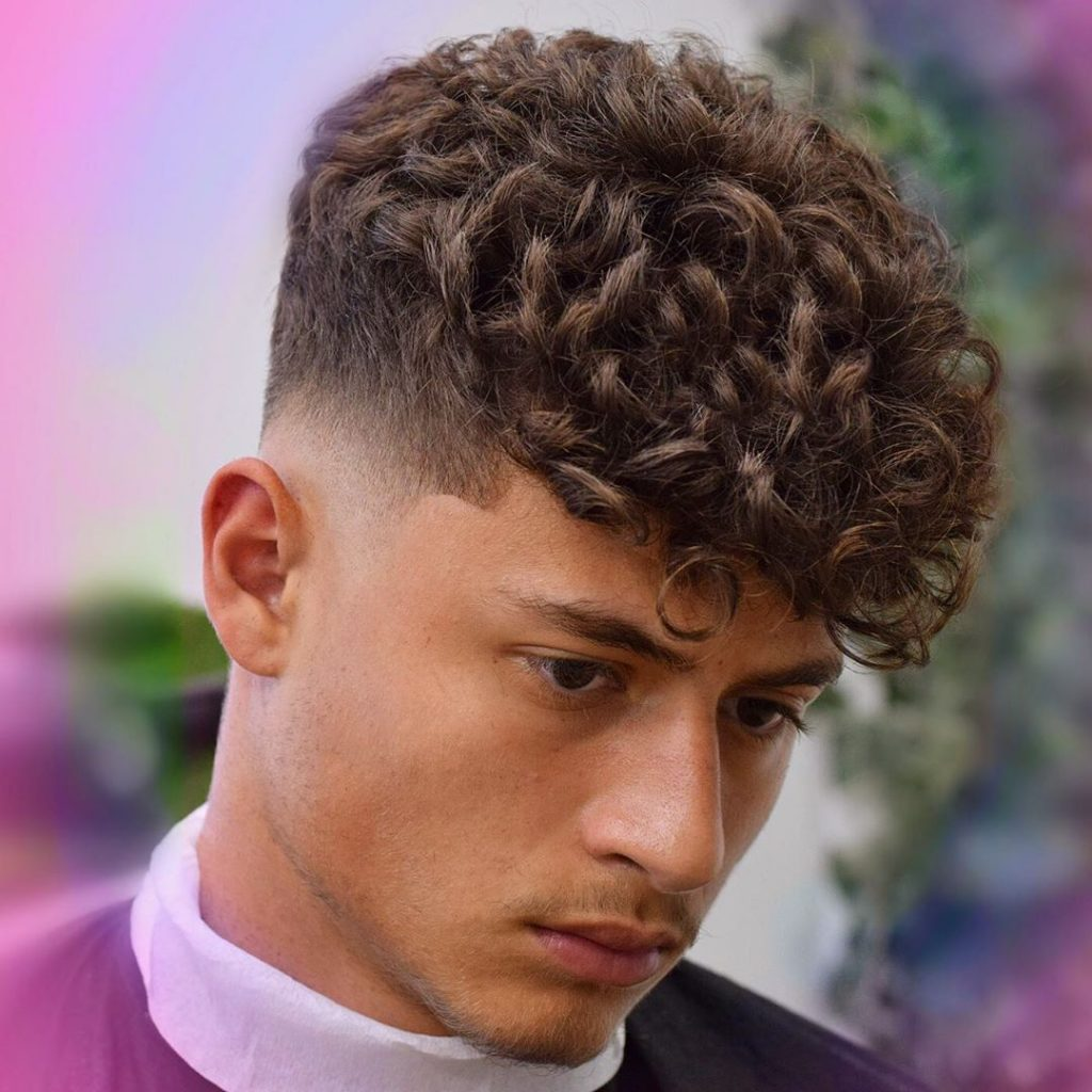 fade haircuts for curly hair