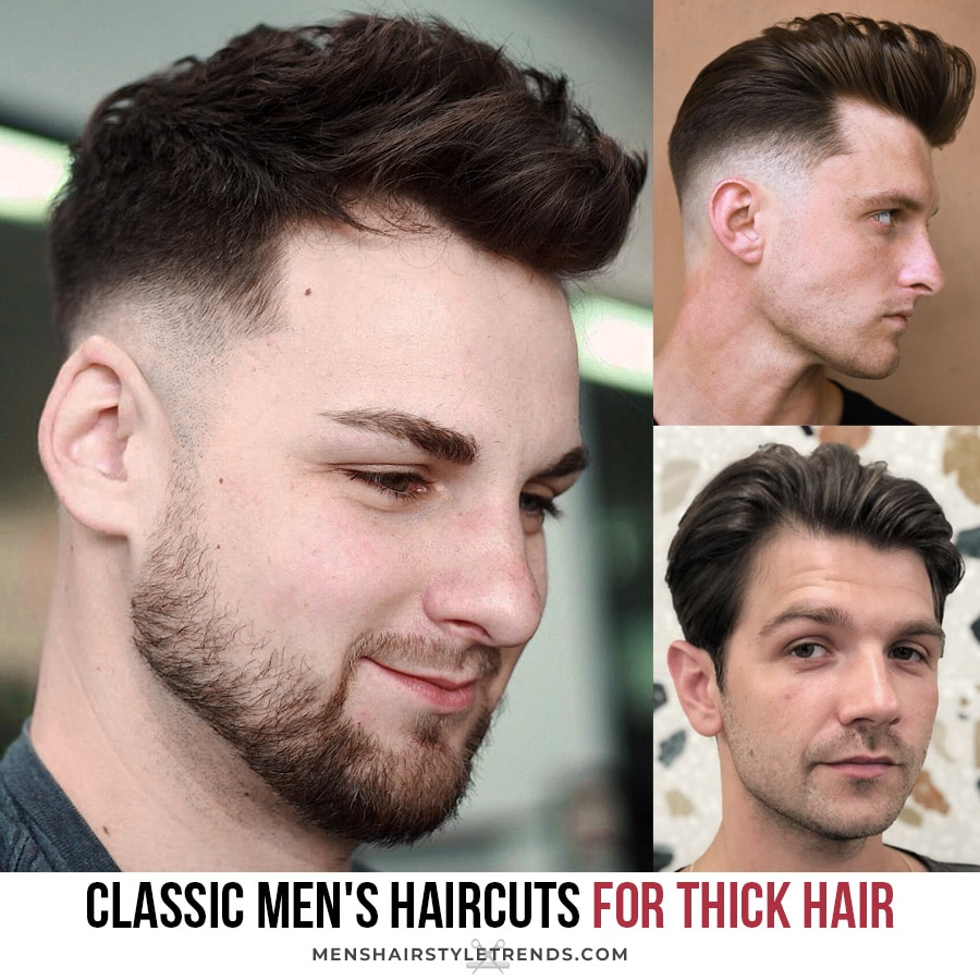 classic men's haircuts for thick hair