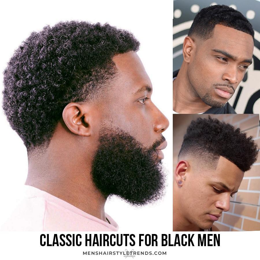 Classic haircut for black men