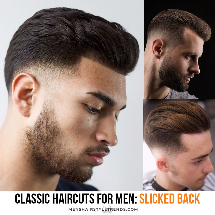 Classic Slicked Back Hairstyles for Men